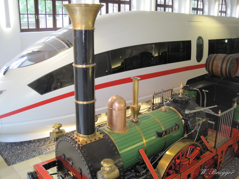 ICE und Adler im Verkehrsmuseum Nürnberg