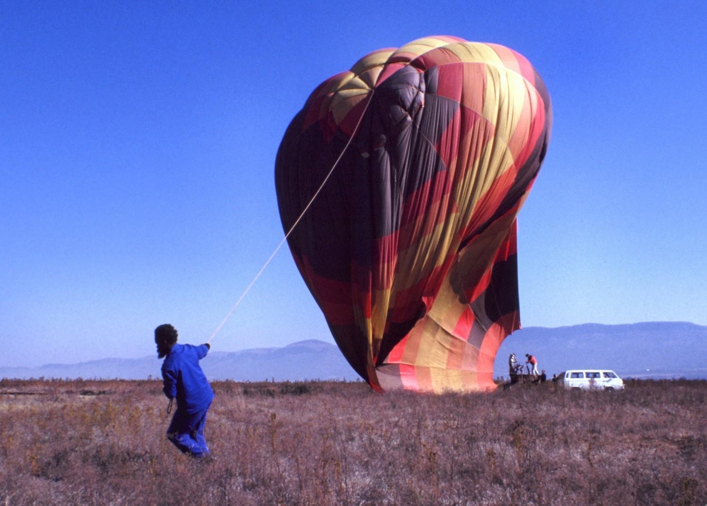 Südafrika: Heißluftballon nach der Landung
