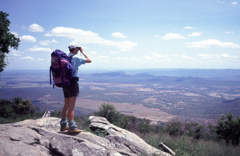 Südafrika Wolfgang beim Wandern bei Tzaneen