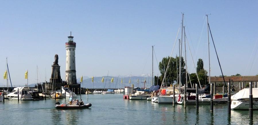 Hafen von Lindau am Bodensee