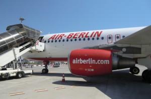 AirBerlin am Flughafen von Catania, Sizilien