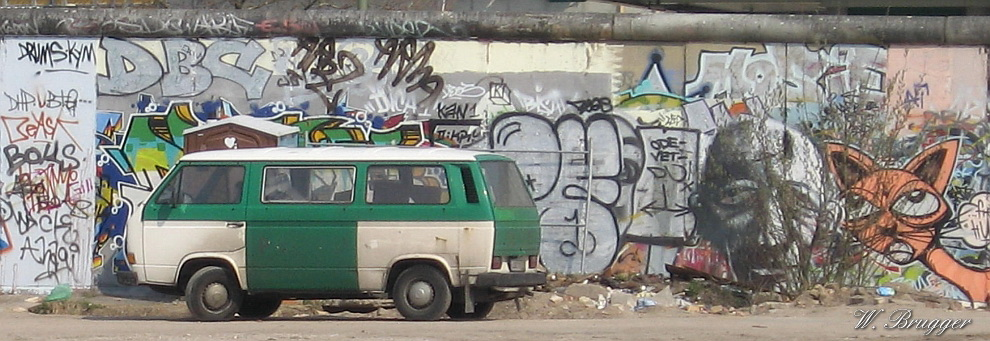 Reste der Berliner Mauer Bild: Wolfgang Brugger
