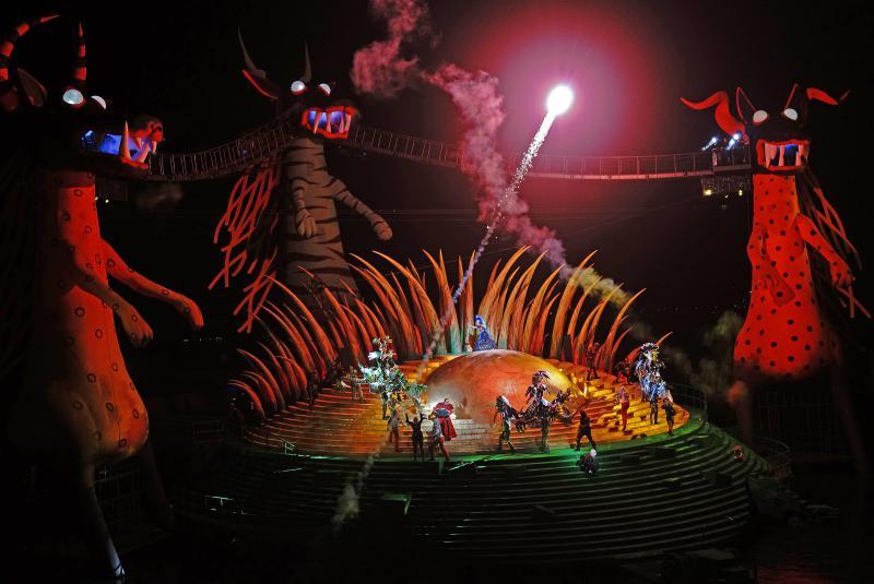 Spiel auf dem See 2014 Die Zauberflöte - Die Endschlacht © Bregenzer Festspiele/Karl Forster