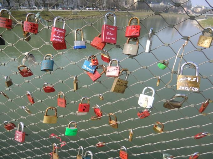 Salzburg: Liebesschlösser