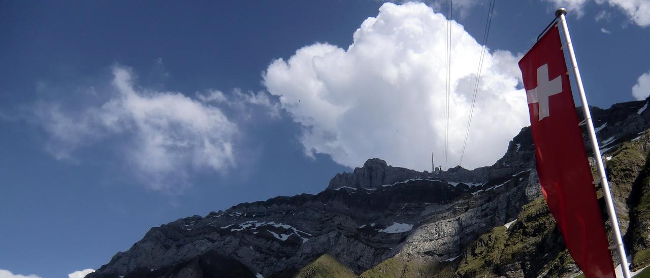 Der höchste Berg der Ostschweiz: Säntis Bild: Wolfgang Brugger