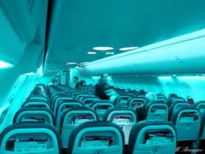 Flugzeug innen Sitze Reihen Sitzplatz CIMG3644