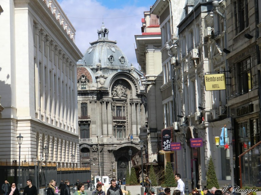 In der Altstadt von Bukarest, der Hauptstadt Rumäniens