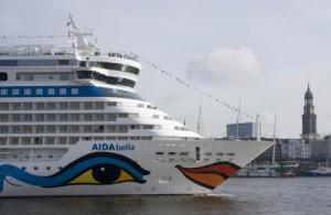 """AIDAbella in Hamburg. Quelle: """"obs/AIDA Cruises"""""""