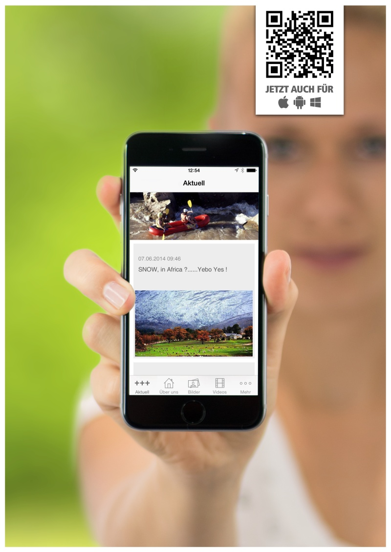 klein südafrika app poster1