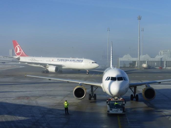 Turkish Airlines Flughafen München Flugzeug