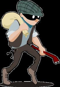 Einbrecher. OpenClipartVectors / Pixabay. Gefunden unter CC0 -Lizenz