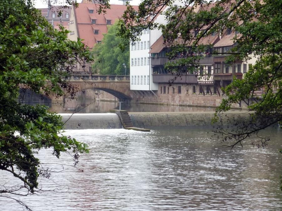 Nürnberg - Idylle an der Pegnitz.