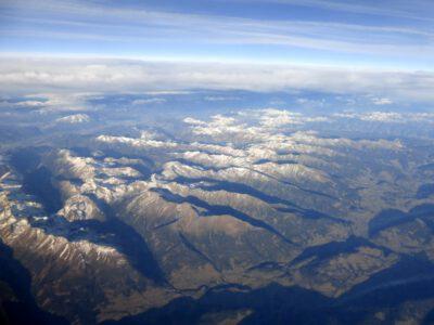 Überflug Alpen, Mur-Tal, Österreich