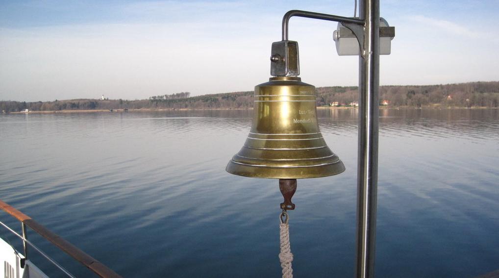 Glocke am Schaufelraddampfer Herrsching, Ammersee