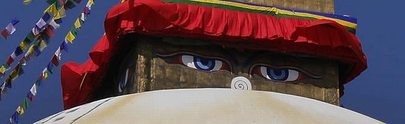 Nepal, Kathmandu: Triff Buddha in Boudha