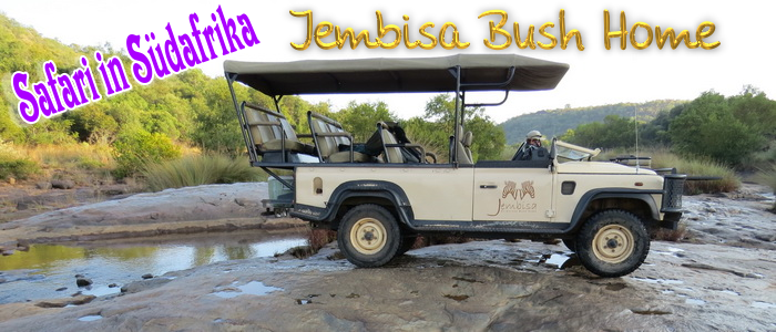 Südafrika, malariafrei: Jembisa Bush Home – Safari Lodge