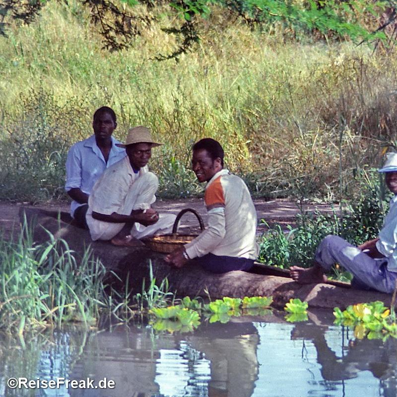 Flussszene in Malawi