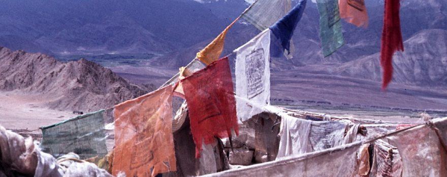 Gebetsfahnen, Ladakh, Indien