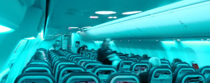 Flugzeug innen Sitze