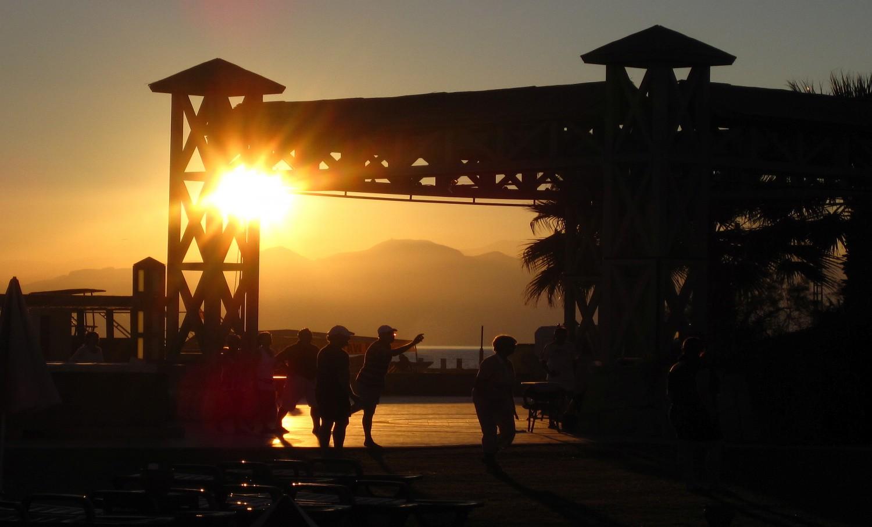 Urlaub Türkei Antalya Sonnenuntergang