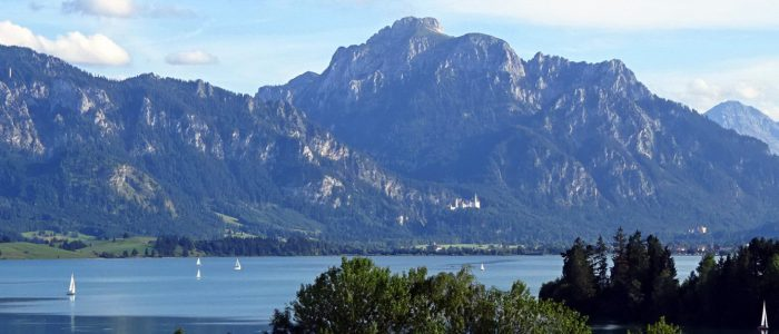Forggensee, Füssen, mit Säuling und Neuschwanstein